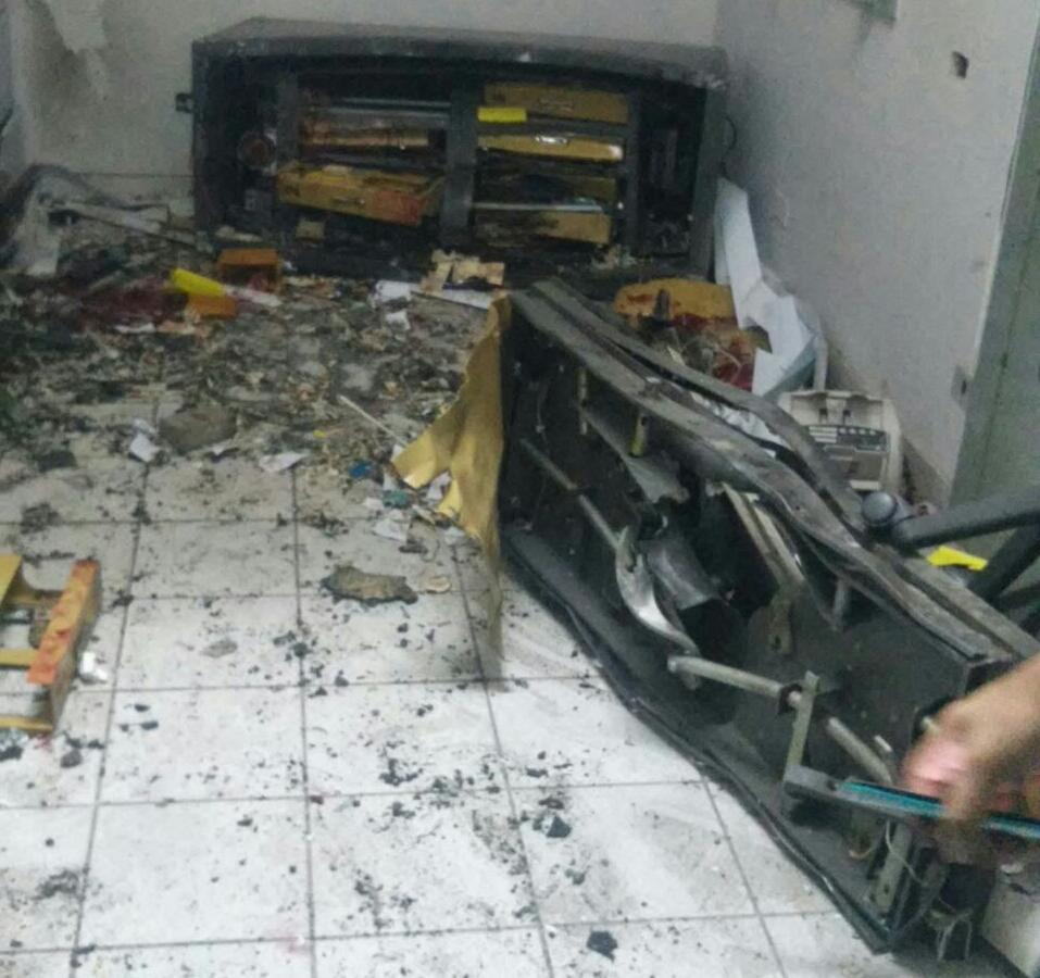 Explosão agência BB Porto da Folha