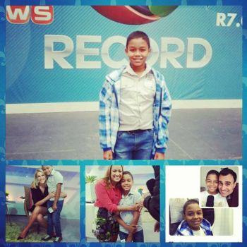 Futuro jornalista: Garoto itabaianense realiza sonho e conhece est�dios da Record em SP