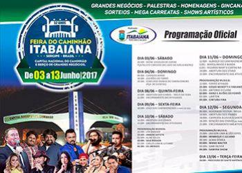 Prefeito divulga programa��o da Festa do Caminhoneiro de Itabaiana