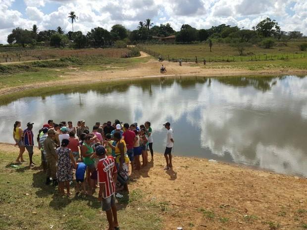 afogamento tanque povoado Flechas Itabaiana Sergipe