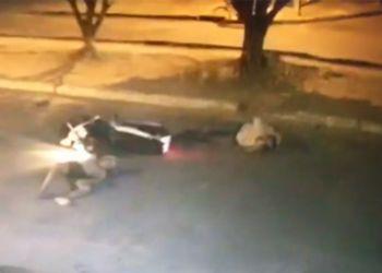 Homem é atropelado por motocicleta em Avenida da Cidade de Itabaiana
