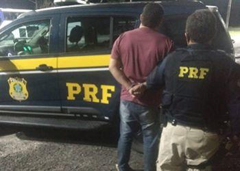 PRF detém em Sergipe homem com mandado de prisão em aberto, expedido pela justiça do Estado de Pernambuco
