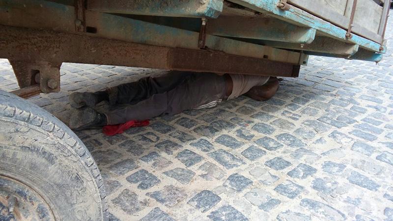 homem esmagado reboque Itabaianinha Sergipe