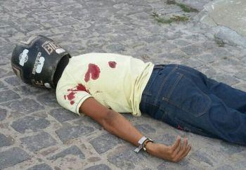 Jovem � assassinado a tiros em via p�blica na cidade de Areia Branca