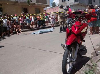 Idosa morre atropelada por ciclomotor no centro da cidade de Itabaiana