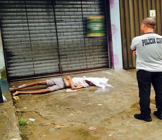 idoso morre via pública Lagarto Sergipe