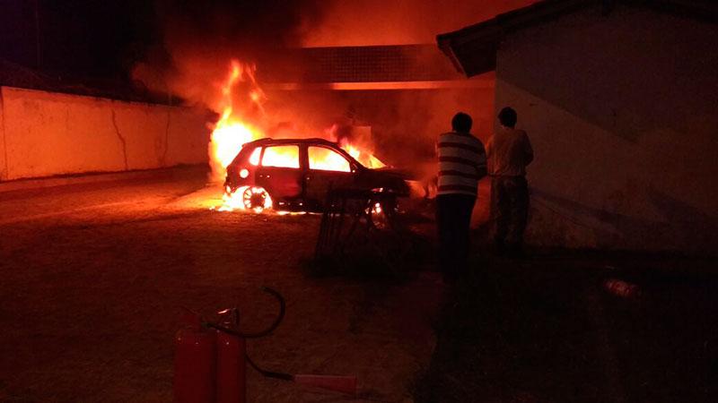 incêndio carro hospital Nossa Senhora da Glória Sergipe