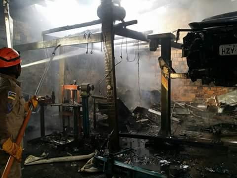 incêndio Oficina automotiva Itabaiana Sergipe