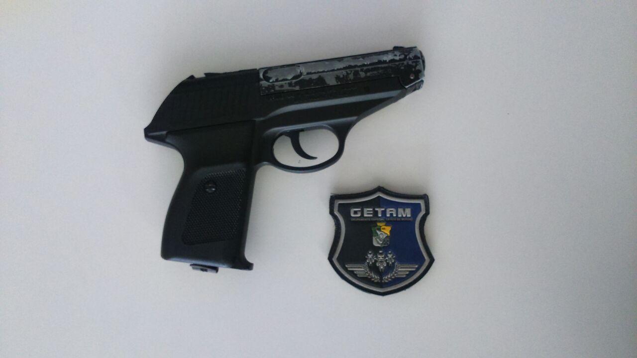 Jovens Itabaiana Sergipe simulacro pistola 45mm
