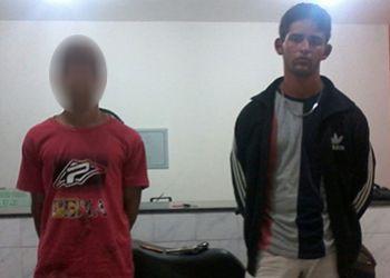 Rondas: Jovens de Ribeir�polis s�o flagrados com arma de fogo na cidade de Frei Paulo