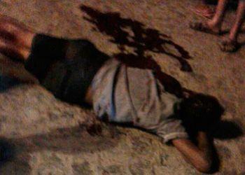 Adolescente � assassinado por disparos de arma de fogo em via p�blica