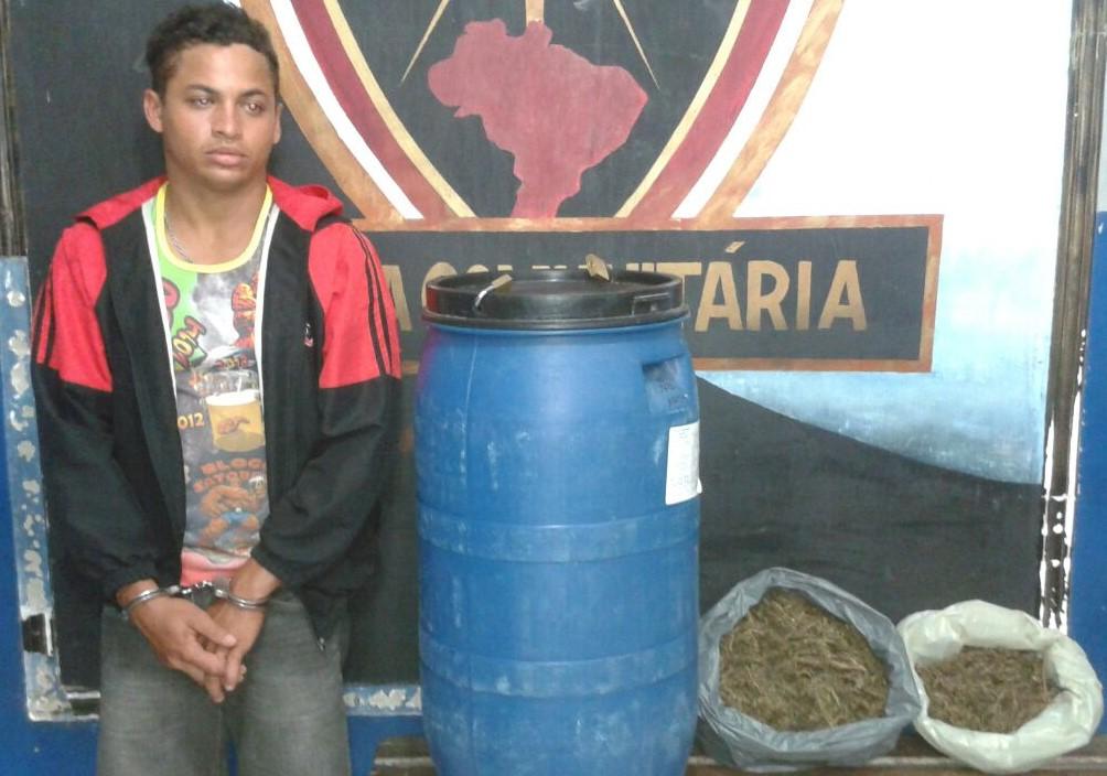 maconha apreendida bairro Queimadas Itabaiana Sergipe