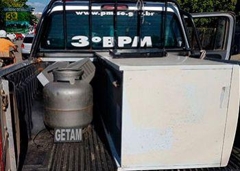 PM recupera objetos furtados de residência em Itabaiana e suspeito pela pratica do delito é conduzido à delegacia