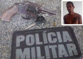 Jovem morador da cidade de Pinh�o � flagrado com arma de fogo em povoado do munic�pio de Frei Paulo