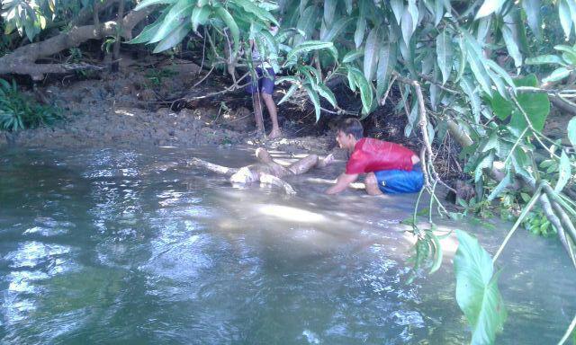 menina morta rio Brejo Grande Sergipe