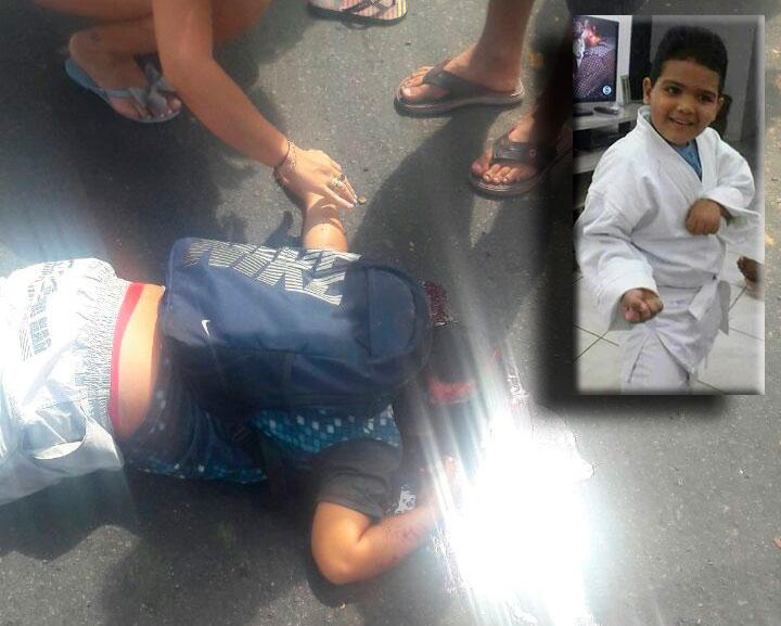 menino atropelado caçamba Frei Paulo Sergipe