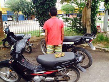 Adolescente � apreendido momento depois de furtar ciclomotor no centro da cidade de Itabaiana