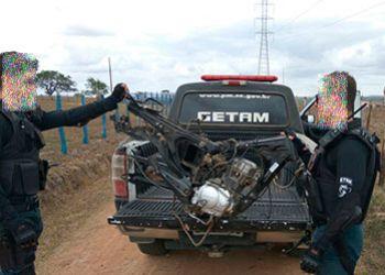PM recupera chassi e motor de motocicleta com restri��es de roubo