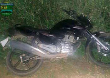 Motocicleta tomada de assalto na zona rural de Itabaiana é localizada por meio de rastreamento.
