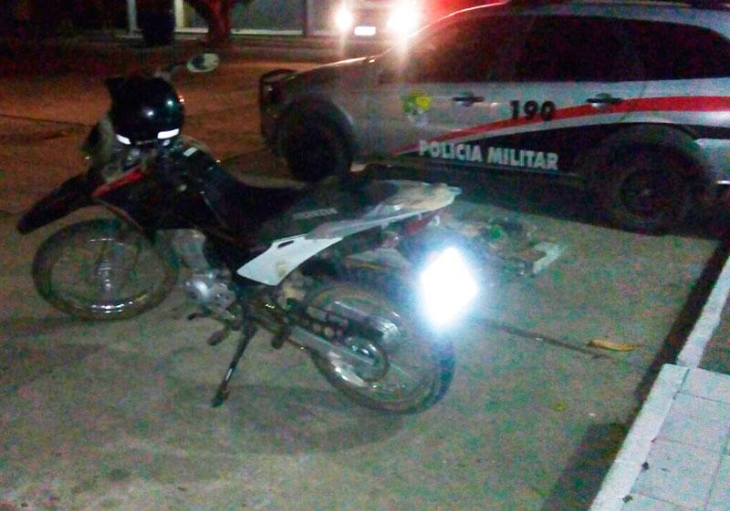adolescente apreende motocicleta Bros Itabaiana Sergipe