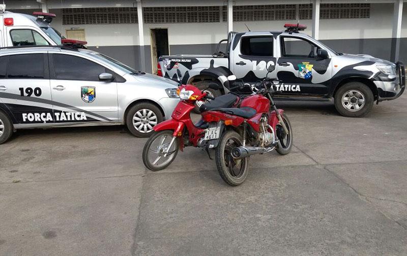 motocicleta Shineray apreendidos Polícia Militar Itabaiana Sergipe