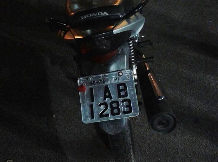 moto placa adulterada Itabaiana Sergipe