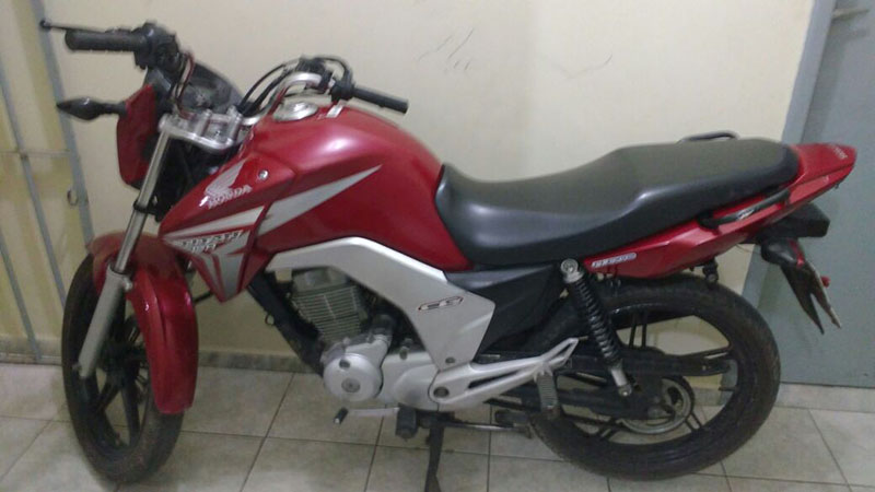 motocicleta roubada Areia Branca Sergipe