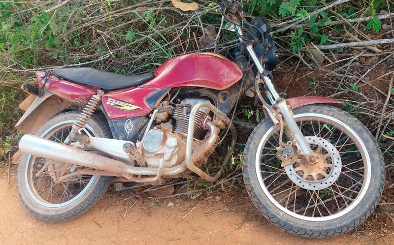 motocicleta roubada zona rural Itabaiana Sergipe
