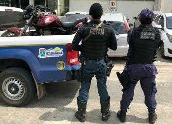 Equipes do 3.º BPM recuperam em Itabaiana motocicleta com restrição de roubo