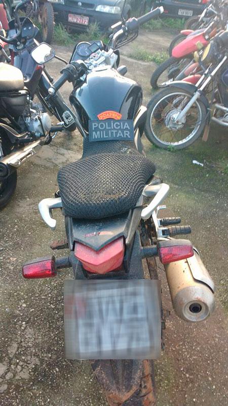motocicleta roubada Carira Sergipe