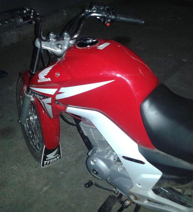 motocicleta roubada Macambira Sergipe