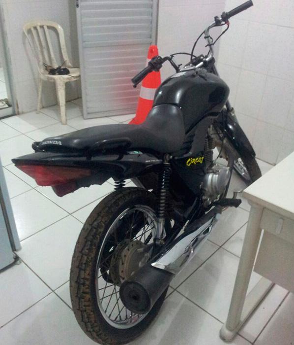 motocicleta recuperada Areia Branca Sergipe