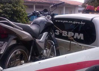 Apreens�o: Criminosos abandonam motocicleta com restri��o de roubo na zona rural de Itabaiana