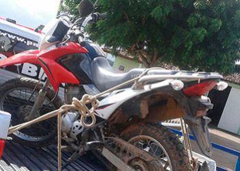 PM recupera em Itabaiana ve�culo de duas rodas tomado de assalto na capital sergipana
