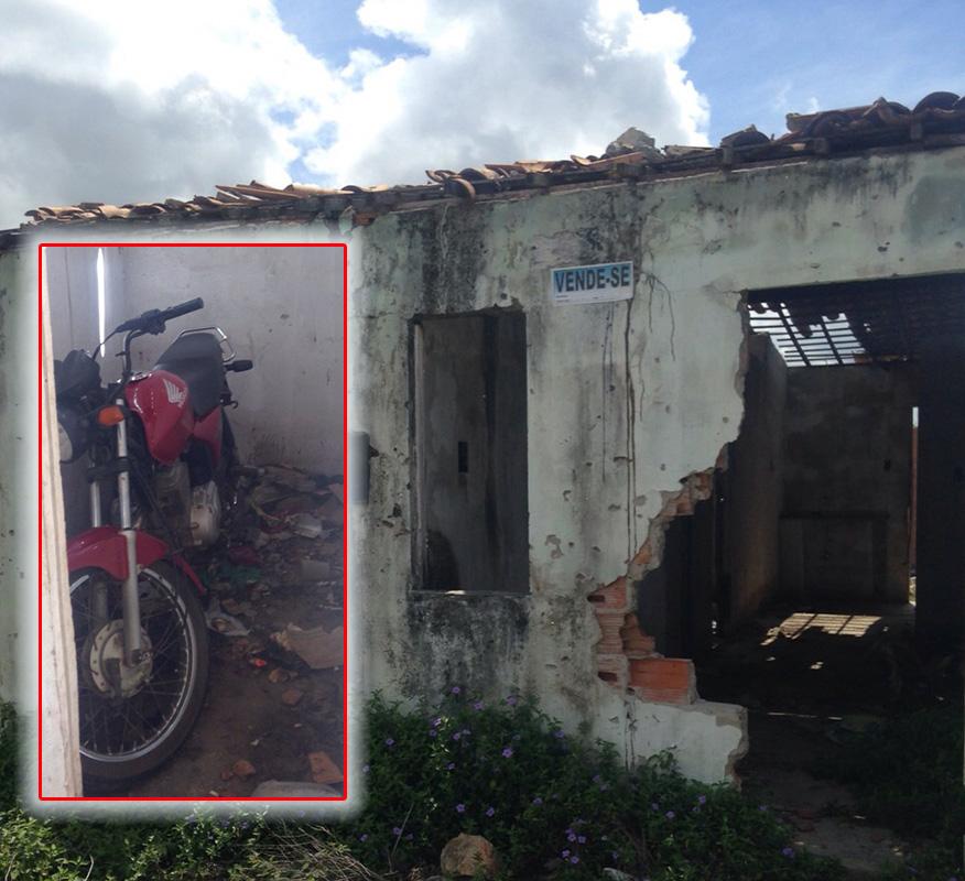 motocicleta abandonada Itabaiana Casa