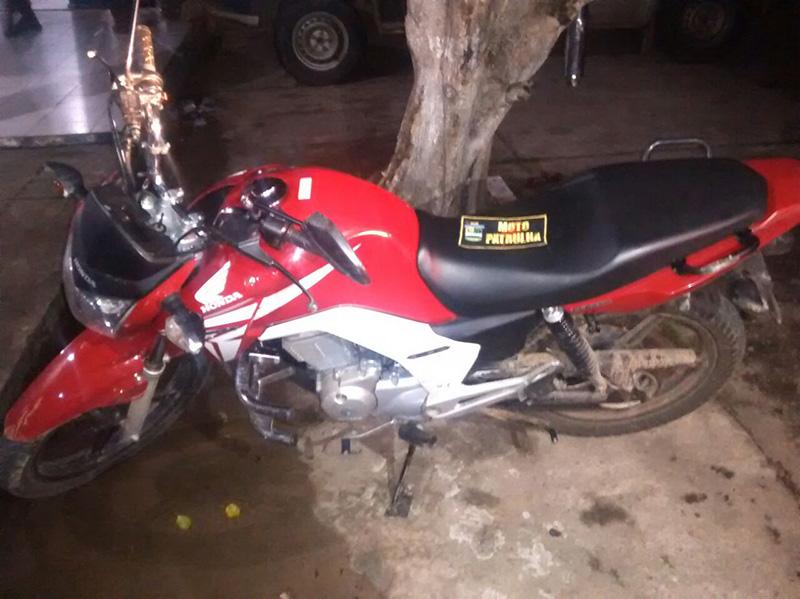 motocicleta tomada de assalto Itabaiana Sergipe