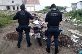 Policia Militar recupera em Itabaiana motocicleta com restri��o de roubo