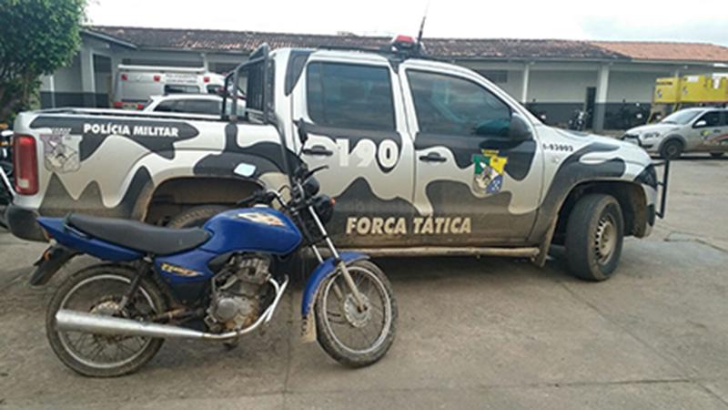 motocicleta roubada em Campo do Brito Sergipe