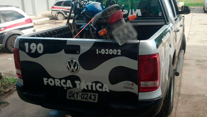 motocicleta roubada Rodovia João Paulo II