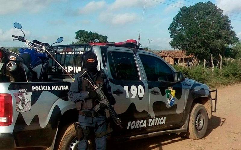 Motocicleta Policial Militar Assalto Itabaiana Sergipe