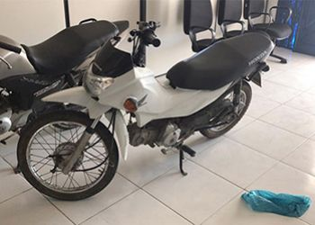 PM recupera no município de São Domingos motoneta roubada com placa de Itabaiana