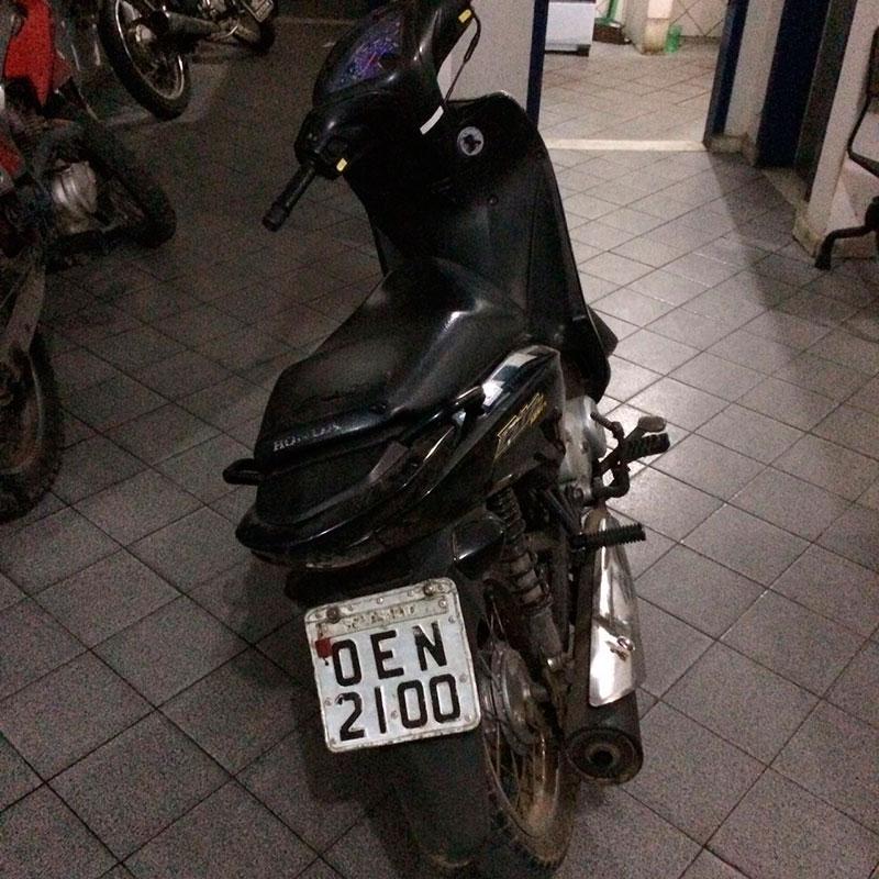 Motocicleta placa clonada São Domingos Sergipe