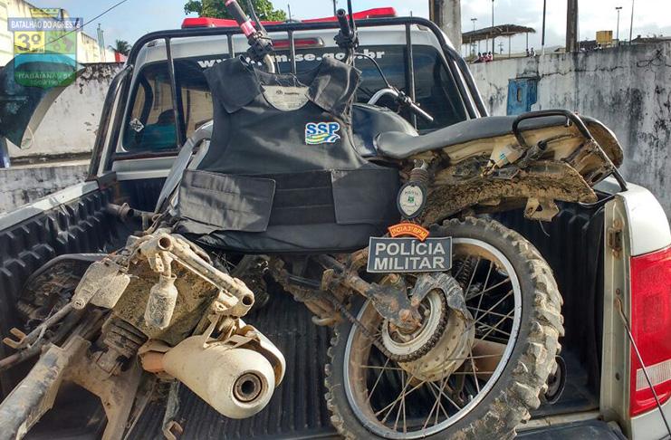 Polícia localiza desmanche de veículos no município de Areia Branca