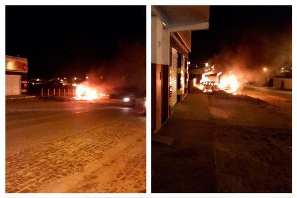 ônibus incendiado Lagarto Sergipe