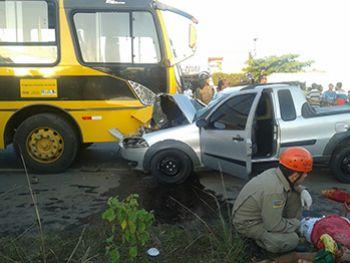 Condutor de ciclomotor provoca acidente ao trafegar na contram�o de dire��o em Rodovia Federal