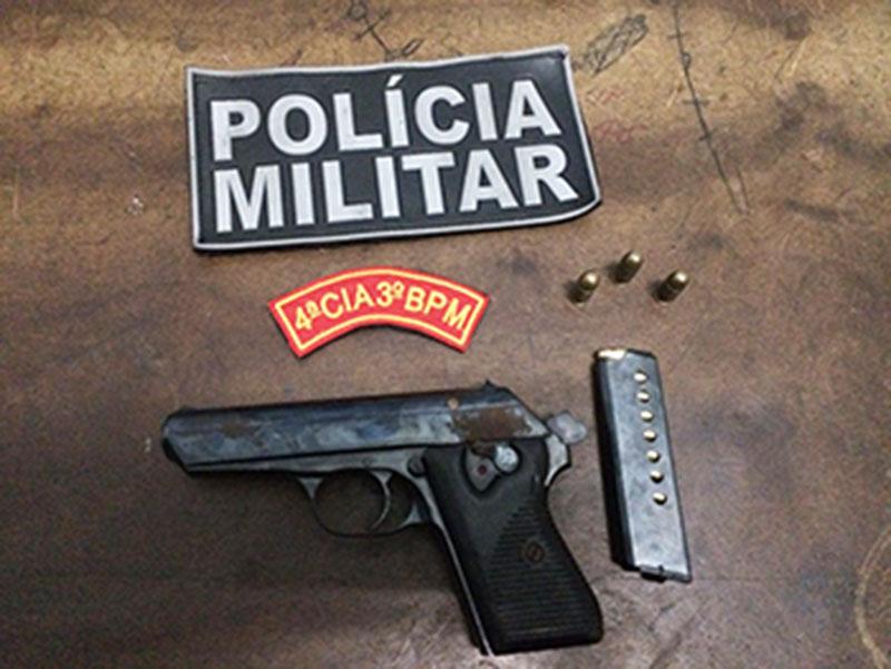 apreensão Pistola 32 Itabaiana Sergipe