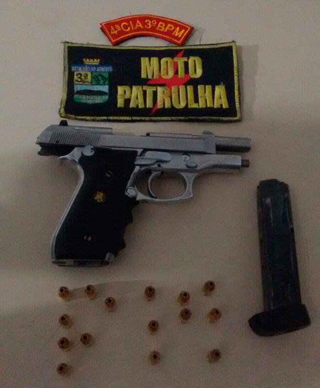 pistola apreensão Itabaiana Sergipe Polícia Militar