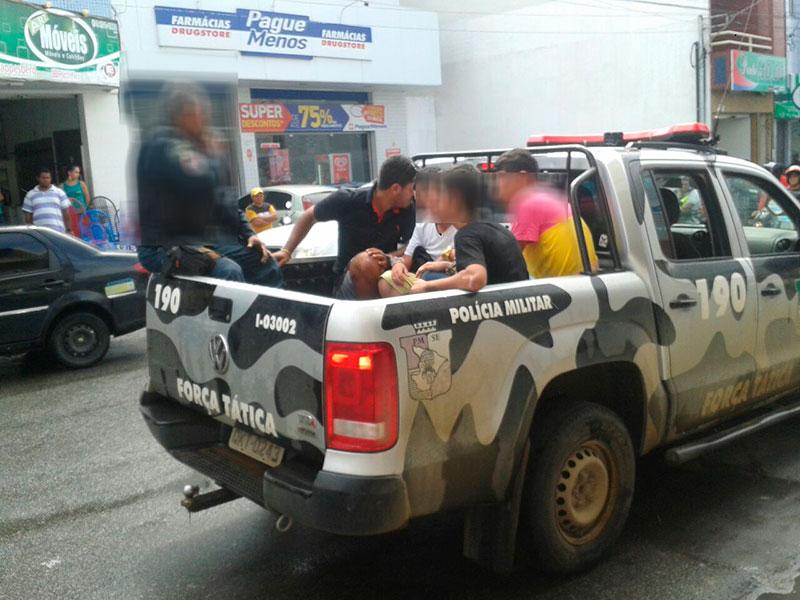 Pousada Centro Itabaiana Sergipe Jovens Entorpecente Arma de fogo
