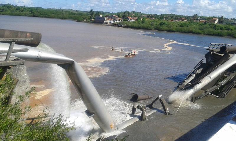 Queda Ponte Laranjeiras Sergipe BR-101
