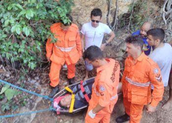 Homem sofre princípio de infarto durante visita a Cachoeira de Macambira